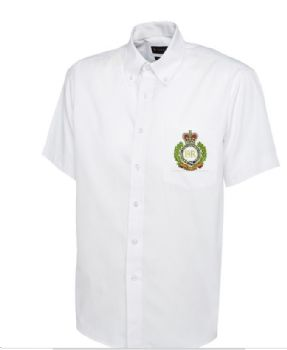 Personalised White Collared Embroidered Short Sleeve Shirt